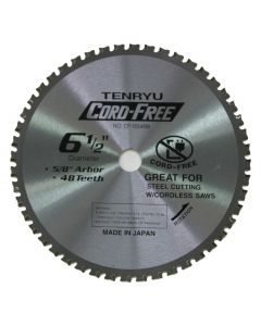 """Tenryu CF-16548M 6-1/2"""" 48T MTCG Circular Saw Blade, Ferrous-Cutting"""