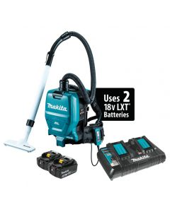 Makita XCV05PT 18Vx2 (36V) Brushless Cordless Backpack HEPA Dust Extractor/Vacuum Kit