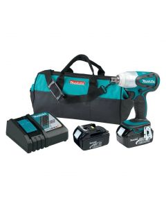 "Makita XWT05 18V LXT Cordless 1/2"" Impact Wrench Kit, 170 ft.lbs. of Max Torque"