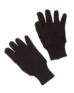 Brown Jersey Gloves, One Size