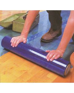 "24"" x 200' Roll size Blue Carpet/Floor Duct Wrap Film"