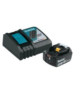 Makita BL1850BDC1 18V Lithium-Ion Battery and Charger Starter Pack, 5.0Ah Batteries