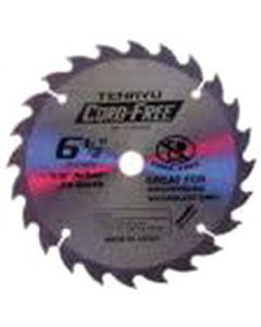 "6-1/2"" 60T, 5/8"" Arbor, ATB CORD-FREE Saw Blade for Non-Ferrous Cutting, CF-16560A"