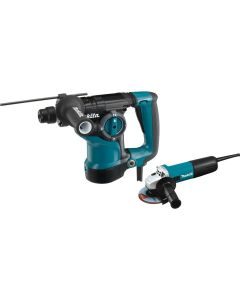"Makita HR2811FX 1-1/8"" SDS Plus Rotary Hammer with Free 9557NB Grinder"