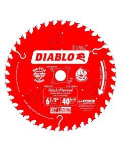 """Freud D0641A 6-1/2"""" 40 Teeth Diablo Finishing Circular Saw Blade"""