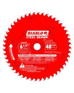 """Freud D0648FA 6-1/2"""" 48 Teeth Diablo Ferrous Metal Cutting Circular Saw Blade"""