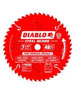 """Freud D0748A 7-1/4"""" 48 Teeth Diablo Ferrous Metal Circular Saw Blade"""