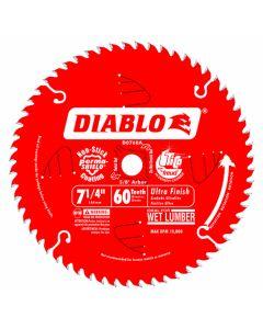"""Freud D0760A 7-1/4"""" 60 Teeth Diablo Ultra Finish Circular Saw Blade"""