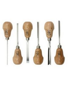 511-0050 Pear Handle Set of 6 Carving Tools