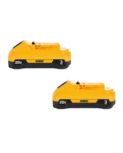 DeWalt DCB230-2 20V Max Lithium Ion 3.0Ah Compact Battery, 2 Pack