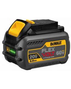 DeWalt DCB606 FlexVolt 20V/60V Cordless Battery Pack, 6.0 Ah