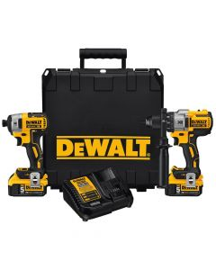 DeWalt DCK299P2 20V Max XR Lithium-Ion Cordless 2-Tool Combo Kit, 5.0Ah Batteries