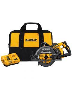 "DeWalt DCS577X1 60V Max 7-1/4"" Cordless Worm Drive Style Circular Saw, 9.0Ah Batteries"