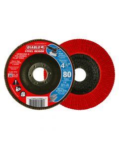 "Freud DCX045080N01F 4-1/2"" 80 Grit Diablo Steel Demon Flap Disc"