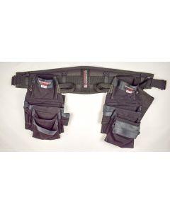 "Diamondback Tool Belts DB5-1-BK-M Denali Pro Framer with Elias Pouch, Wrangell Pounch, Hammer Holster, Flat Bar Holster, & 6"" Belt (Black, Size Medium)"