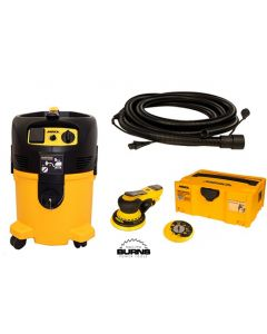 """Mirka MID550-912-5 DEROS 5"""" Dust Free System with Sander, Dust Extractor & 18' Coaxial Cord/Hose"""