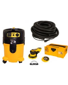 """Mirka MID650-912-10 6"""" DEROS Dust Free System with Sander, Dust Extractor & 33' Coaxial Cord/Hose"""