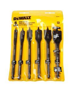 "DeWalt DW1587 3/8"" Heavy-Duty Spade Drill Bit, 6 Piece"