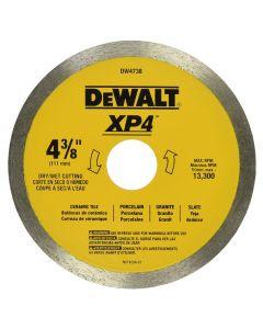 """DeWalt DW4738 4-3/8"""" x 0.060"""" XP4 Wet/Dry Porclean Tile Blade"""