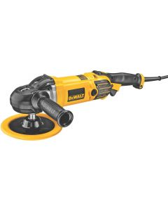 "DeWalt DWP849X 7"" / 9"" Variable Speed H&L Polisher with Soft Start, 0-3500 RPM"