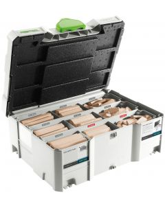 Festool 498204 Size 8 &10 mm Domino Tenon Assortment, Sys 8/10, for the DF700 Domino XL