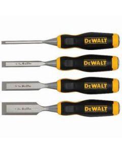 DeWalt DWHT16063 Ergonomic Short Blade Wood Chisel Set, (4)