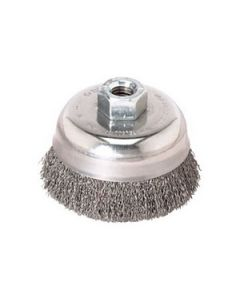 """WB504 3"""" Stainless Steel Knot Cup Brush with 5/8-11 Arbor, .020 SS Knot"""