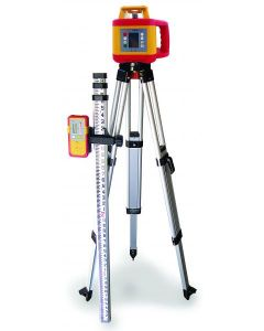PLS HDR1000 KIT - Rotary Laser Level with Detector, Tripod & Grade Rod