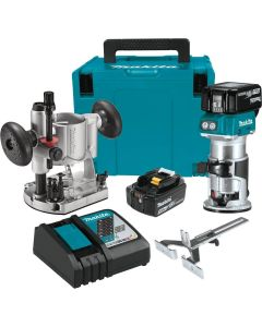 Makita XTR01T7 18V LXT® Lithium‑Ion Brushless Cordless Compact Router Kit (5.0 Ah)