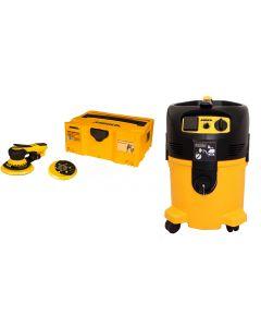 """Mirka MID650-912-5 6"""" Deros Sander with Vacuum & Hose Dust-Free System Kit"""