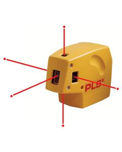 Pacific Laser Systems PLS 5 Red 5-Beam Point-to-Point Laser Level Tool (PLS-60541)