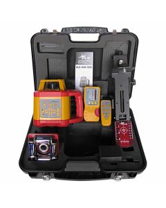Pacific Laser Systems PLS HVR 505 Red Rotary Laser Level Kit with Detector, Tripod & Grade Rod (PLS-60583)