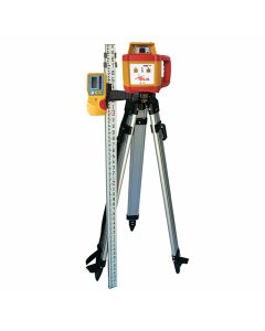 Pacific Laser Systems PLS HR 1000 Red Rotary Laser Kit with Tripod & Grade Rod (PLS-60585)