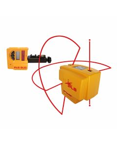 Pacific Laser Systems PLS 4 Red Combination Line and Point Laser Level System with SLD Detector (PLS-60588)