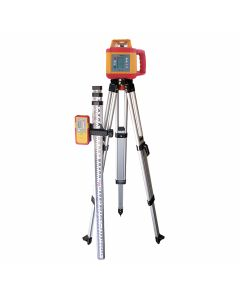 Pacific Laser Systems PLS HDR 1000 Red Rotary Laser Complete Kit with Tripod & Grade Rod (PLS-60616)
