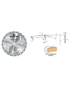 Euro-Rip' Ripping Saw Blades With Cooling Slots and Anti-Kickback Feature