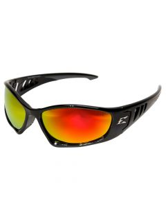 Edge Eyewear SBAP119 Baretti Safety Glasses with Aqua Precision Red Mirror Lens