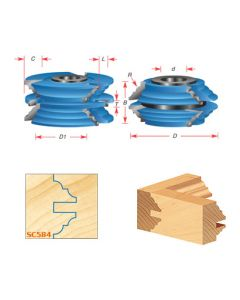 Stile & Rail Cabinet Door Cutter Sets for 1-3/8 Inch Material - Bead & Cove