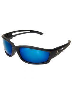 Edge TSKAP218 Kazbek Polarized Safety Glasses with Aqua Precision Blue Mirror Lens