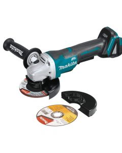 "Makita XAG11Z 18V LXT Cordless 4‑1/2"" / 5"" Paddle Switch Cut‑Off/Angle Grinder with Electric Brake, Bare Tool"