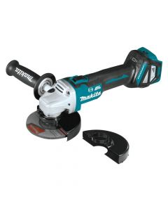 "Makita XAG21ZU 18V LXT Lithium‑Ion Brushless Cordless 4-1/2""/5"" Paddle Switch Cut-Off/Angle Grinder with Electric Brake and AWS, Bare Tool"