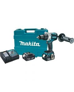 "Makita XFD07M 18V LXT Lithium‑Ion Brushless Cordless 1/2"" Driver‑Drill Kit, 4.0Ah Batteries"