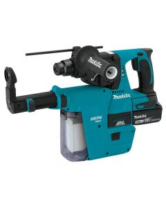 Makita XRH011TX 18V LXT SDS-Plus Rotary Hammer Kit with HEPA Dust Extraction, 5.0Ah Batteries
