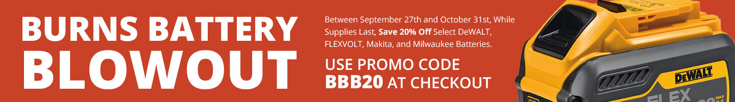 Battery Blowout Sale - Use Code BBB20 to Save 20%